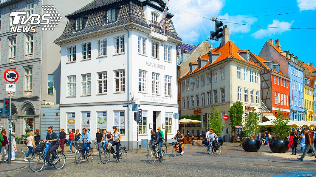 全球最佳自行車旅遊都市,丹麥哥本哈根以62%的居民自行車通勤代步獨占鰲頭。圖/TVBS