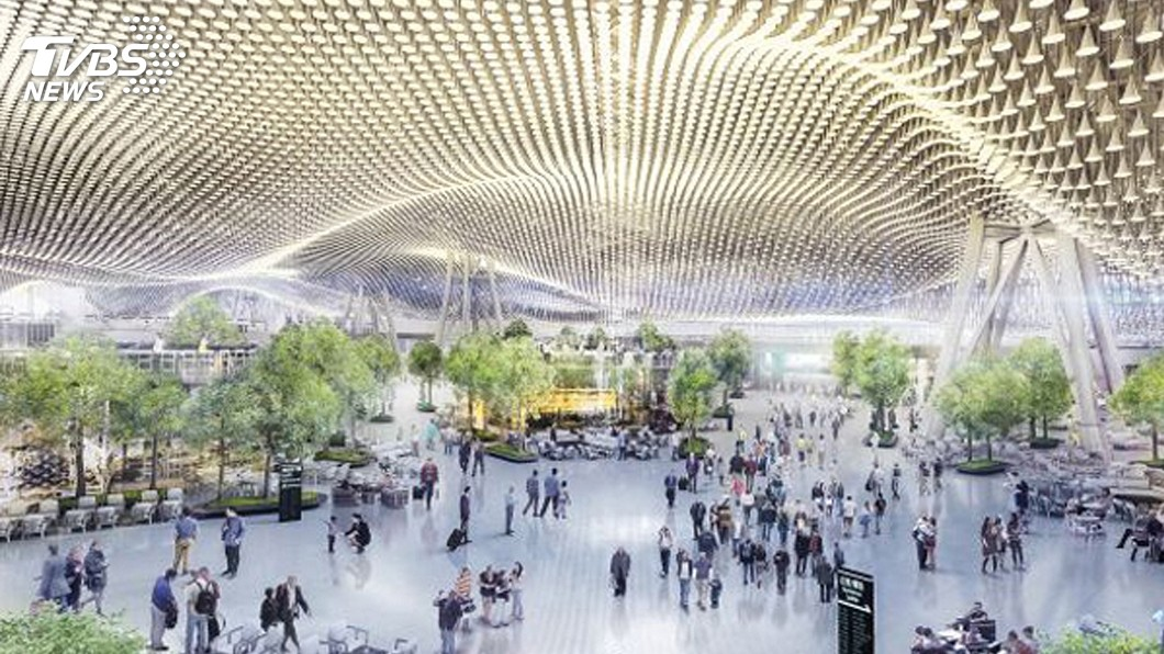 圖/桃機公司提供 桃機第三航廈變更設計 擬取消波浪屋頂玻璃天窗