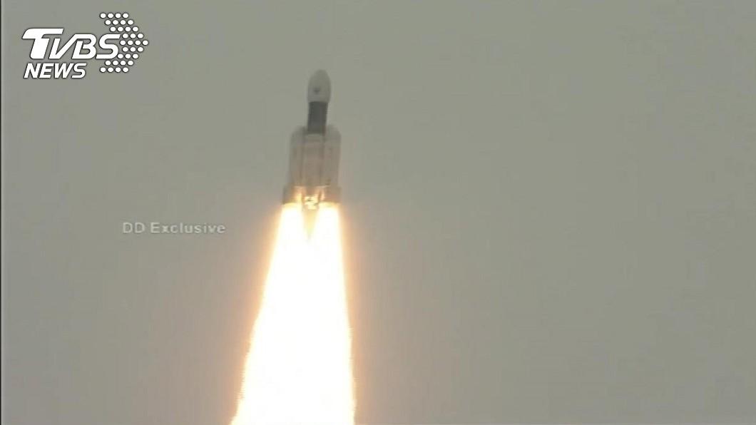 圖/印度太空研究組織提供 印度登月 月球飛船二號成功發射升空