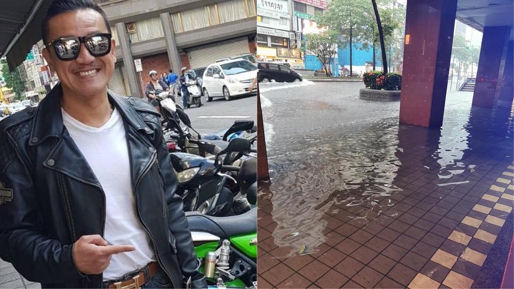 圖/翻攝自陳為民臉書 住40年首見東區淹成河!男星曬照爆亮點:積水還很清澈