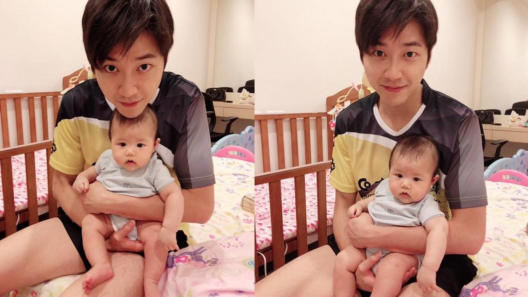 3個月大的小小傑模樣相當呆萌。圖/翻攝自福原愛臉書