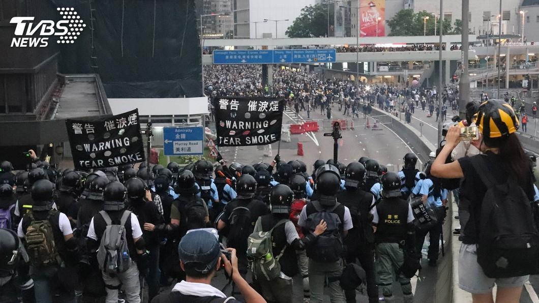 圖/中央社 「反送中」示威影響 港酒店入住率預料下跌3至4%