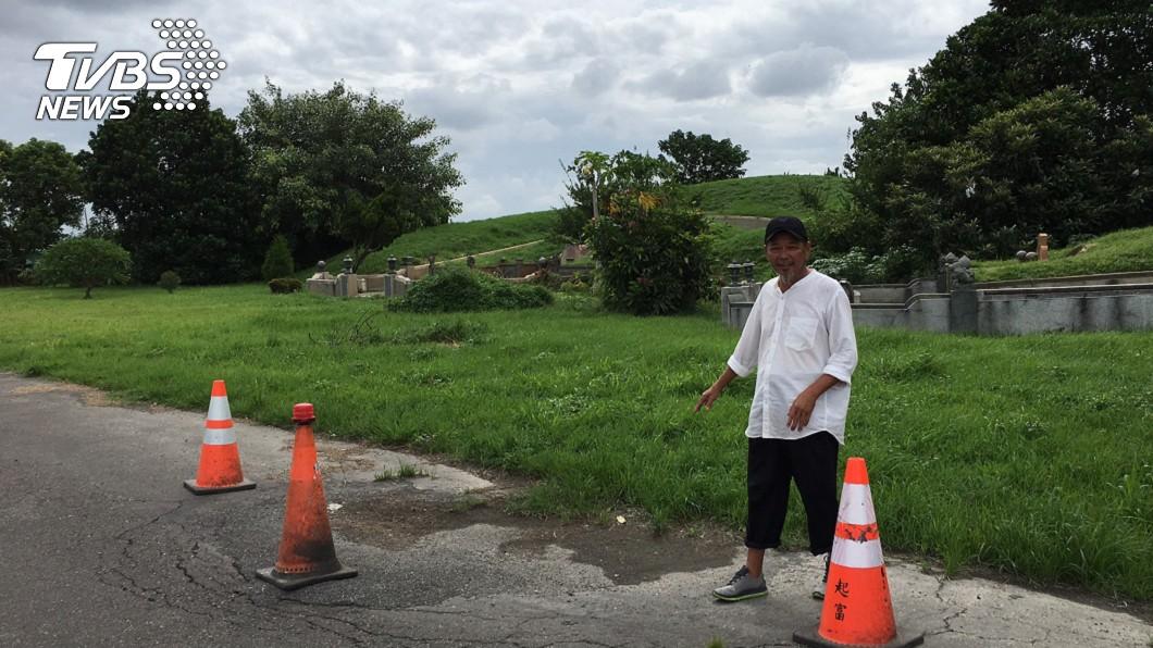 民俗專家廖大乙指出,去年底龍邊外圍還沒有出現坑洞,但現在接連出現坑洞,會對韓國瑜帶來影響。圖/廖大乙授權