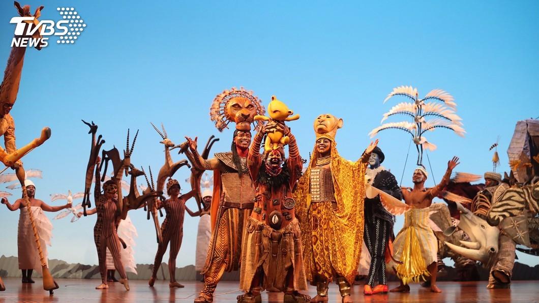 圖/中央社 真人版《獅子王》再登台 小巨蛋化身非洲草原