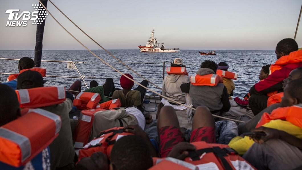 圖/達志影像美聯社 地中海難民問題 馬克洪:8國同意安置計畫