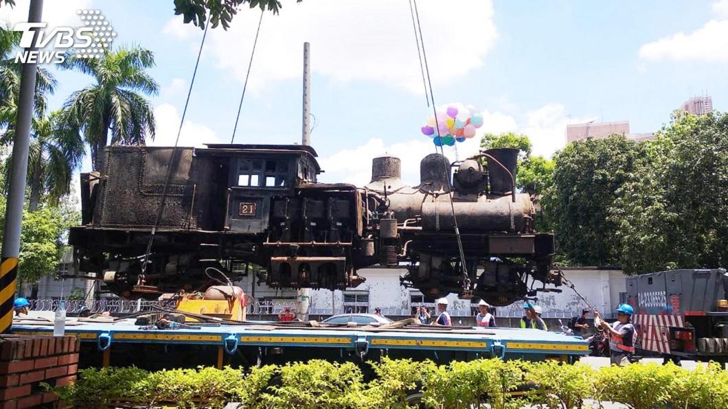 圖/中央社 出借展示44年 阿里山蒸汽火車回娘家