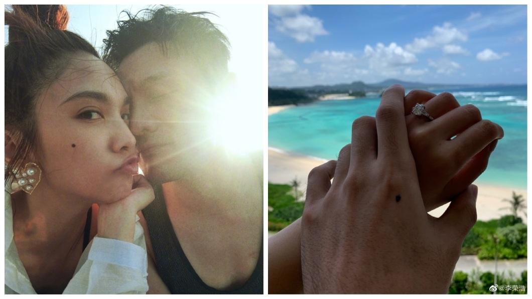 這個月11日,李榮浩開心宣布自己向楊丞琳求婚成功。(圖/翻攝自李榮浩微博)