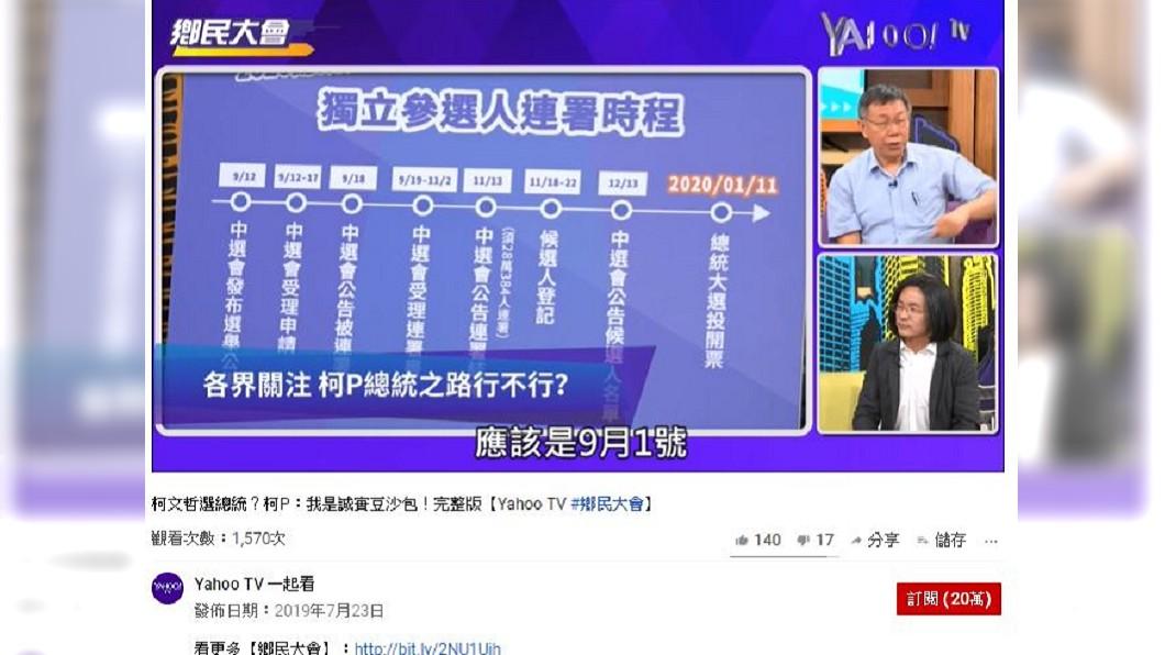 圖/翻攝自Yahoo TV 一起看 youtube頻道