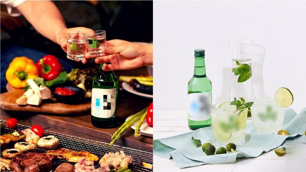 韓式燒酒隨處可見,是韓國人吃燒肉必備。圖/翻攝自真露燒酒IG  酒鬼快學!韓式「燒酒」爆紅新喝法超消暑