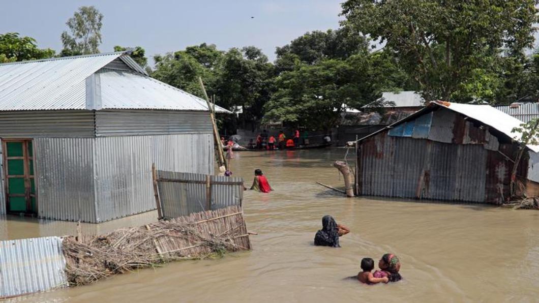 圖/達志影像路透 落難羅興亞人 九月遷往孟加拉「漂浮島」