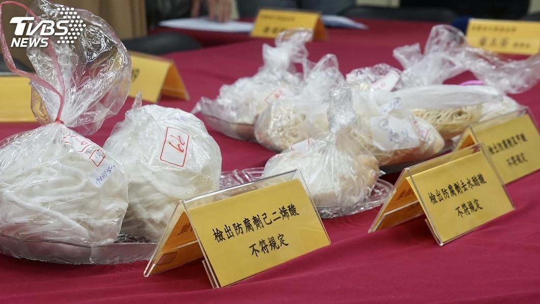 圖/中央社 消基會驗傳統市場米麵製品 1成4防腐劑不合格