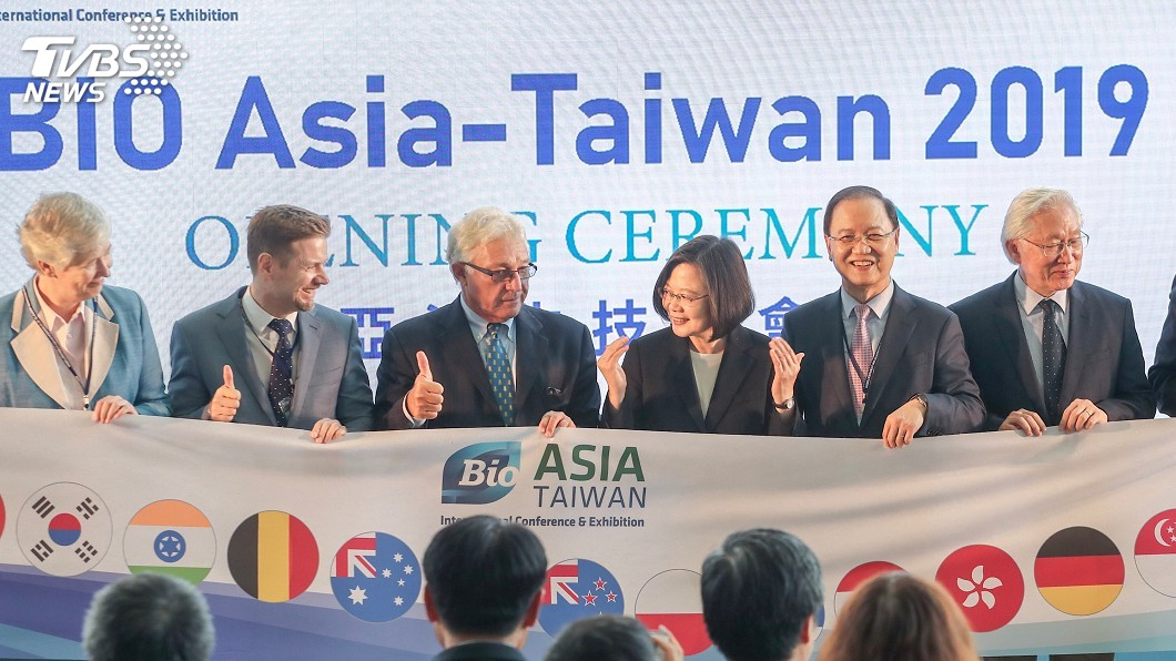 圖/中央社 亞洲生技大會開幕 蔡總統期許成台灣兆元產業