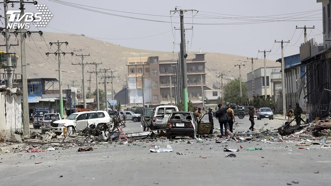 圖/達志影像美聯社 阿富汗首都3連爆 官方:已知至少5死10傷