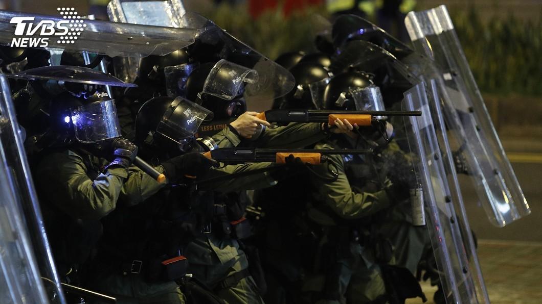 圖/達志影像美聯社 抗議港警勾結黑道 「光復元朗」遊行遭拒