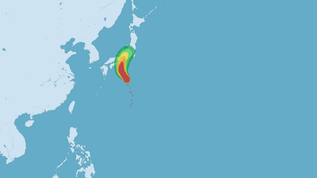 圖/中央氣象局 今年第6號颱風「百合」生成 氣象局:對台無影響