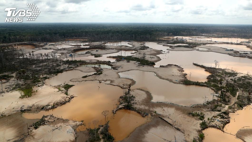 圖/達志影像路透社 亞馬遜非法採礦活動擴大 環保人士歸咎巴西政府