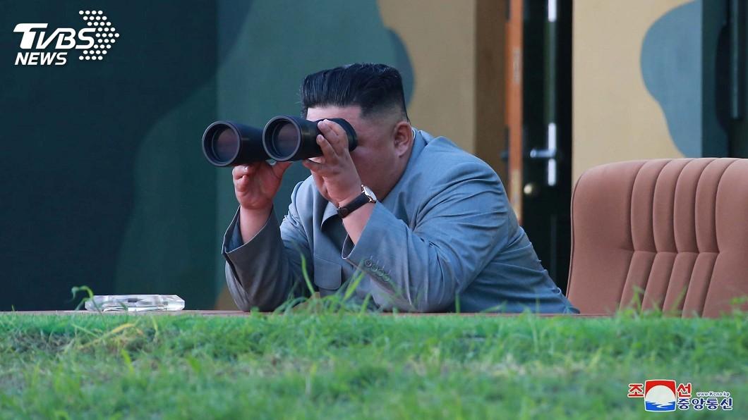圖/達志影像路透社 金正恩親自指導新武器試射 嚴正警告南韓好戰者