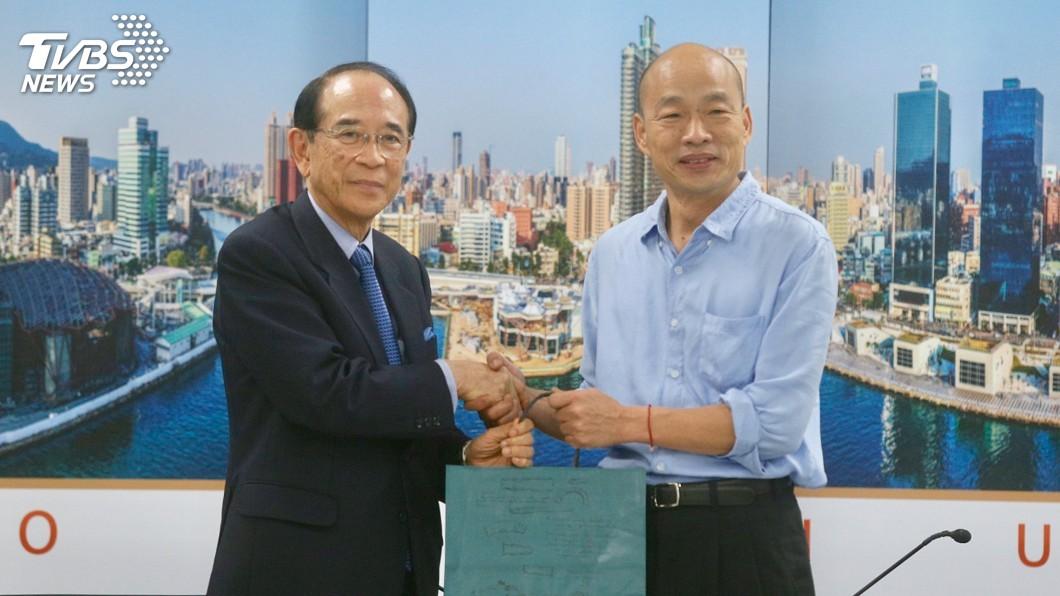 圖/中央社 日台協:韓國瑜先提想訪日 大橋光夫表達歡迎