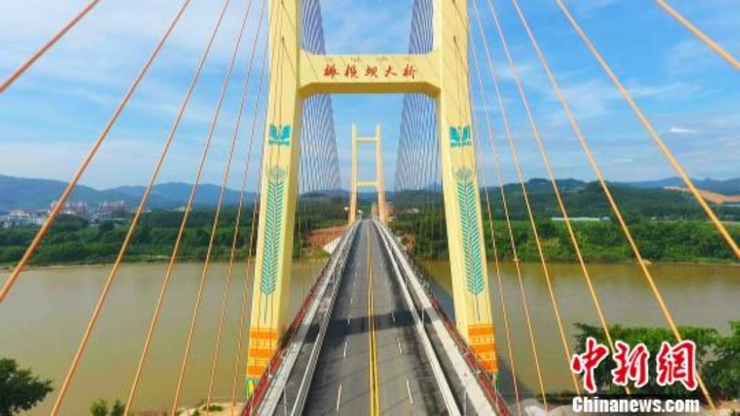 圖/翻攝自 中新網 雨季沒雨.上游大壩截流 泰國湄公河水位降