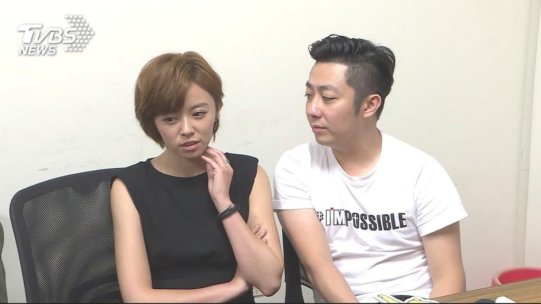 艾成與王瞳上月合體受訪。圖/TVBS