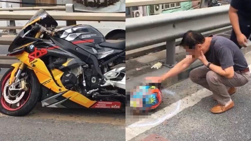圖/翻攝自泰國網 騎重機自撞!男頭顱噴飛20公尺慘死 父認屍崩潰