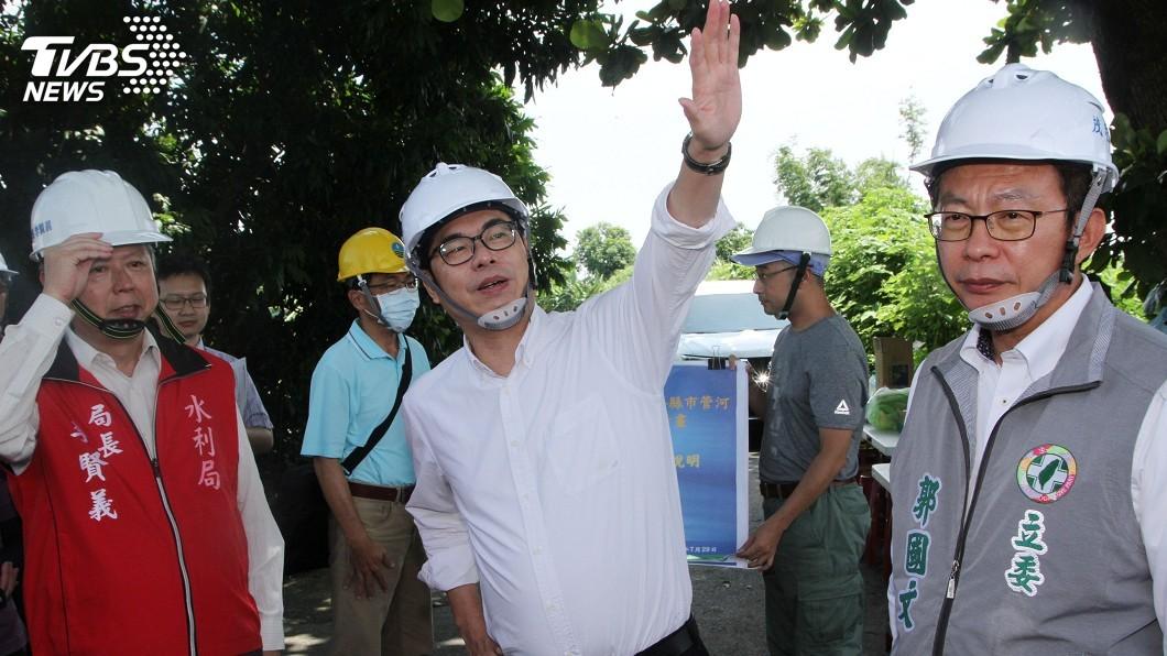 圖/中央社 視察治水工程 陳其邁:中央當台南後盾