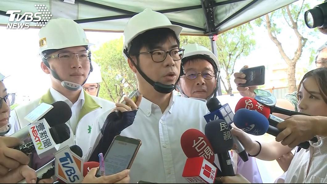 圖/TVBS資料畫面 高雄豪雨成災 陳其邁:市民卻關心能否找到市長