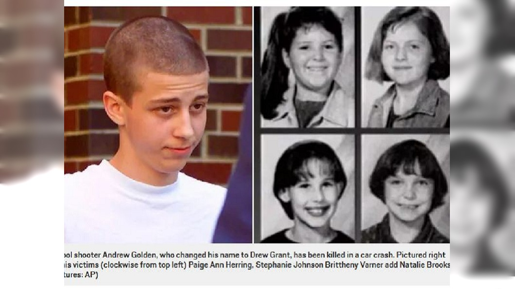 當年犯下校園槍擊案造成5死10傷的嫌犯僅11歲,長大後改名換姓,日前不幸發生車禍身亡。(圖/翻攝自都會報) 11歲犯下校園槍擊案釀5死 21年後他車禍喪命
