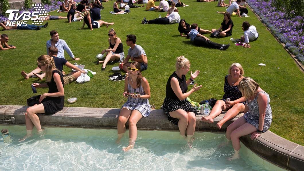 圖/達志影像路透社 英國史上最熱一天! 官方證實飆出38.7度破紀錄