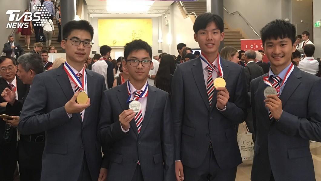 圖/中央社 國際化學奧林匹亞競賽台生2金2銀 國際排名第5