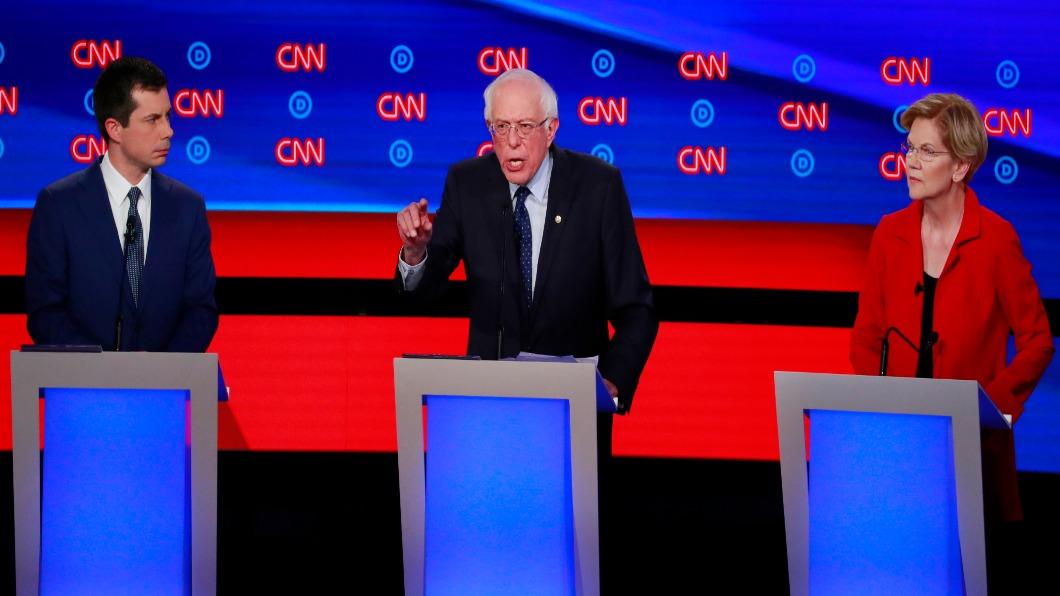 圖/達志影像路透 20人爭民主黨總統提名 第二輪辯論登場