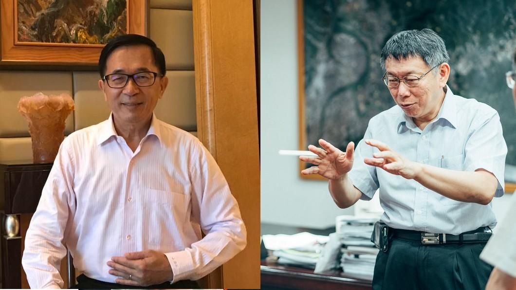陳水扁(左)直指柯文哲(右)一定會選總統。圖/(左)翻攝自陳水扁新勇哥物語臉書、(右)翻攝自柯文哲臉書 柯組黨就不會參選? 陳水扁:他一定會選