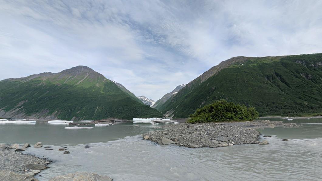 阿拉斯加的瓦爾狄茲冰川湖。圖/翻攝自Google地圖 划船遊阿拉斯加冰川湖 3遊客溺斃浮水面