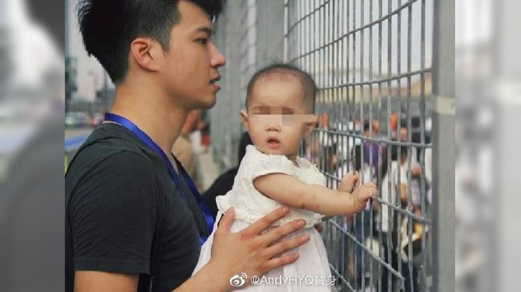 黃毅清多年前與女兒的合照。圖/翻攝AndyHYQ替身微博