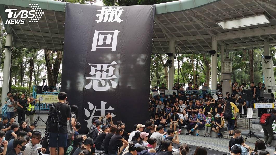 圖/中央社 香港特首如何中止風暴? 緊急法浮上檯面