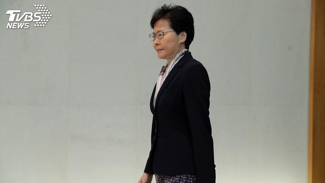 圖/達志影像美聯社 林鄭月娥拒下台 譴責極端分子挑戰國家主權