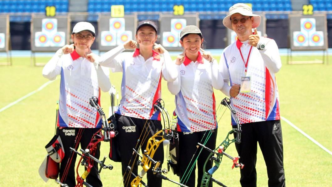 圖/翻攝自中華民國射箭協會 Chinese Taipei Archery Association臉書 亞洲盃射箭賽 中華複合弓女團鍍銅