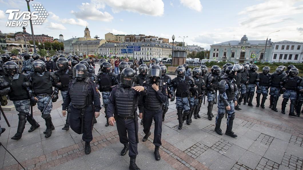圖/達志影像美聯社 反政府遊行俄警捕800多人 德法同聲譴責