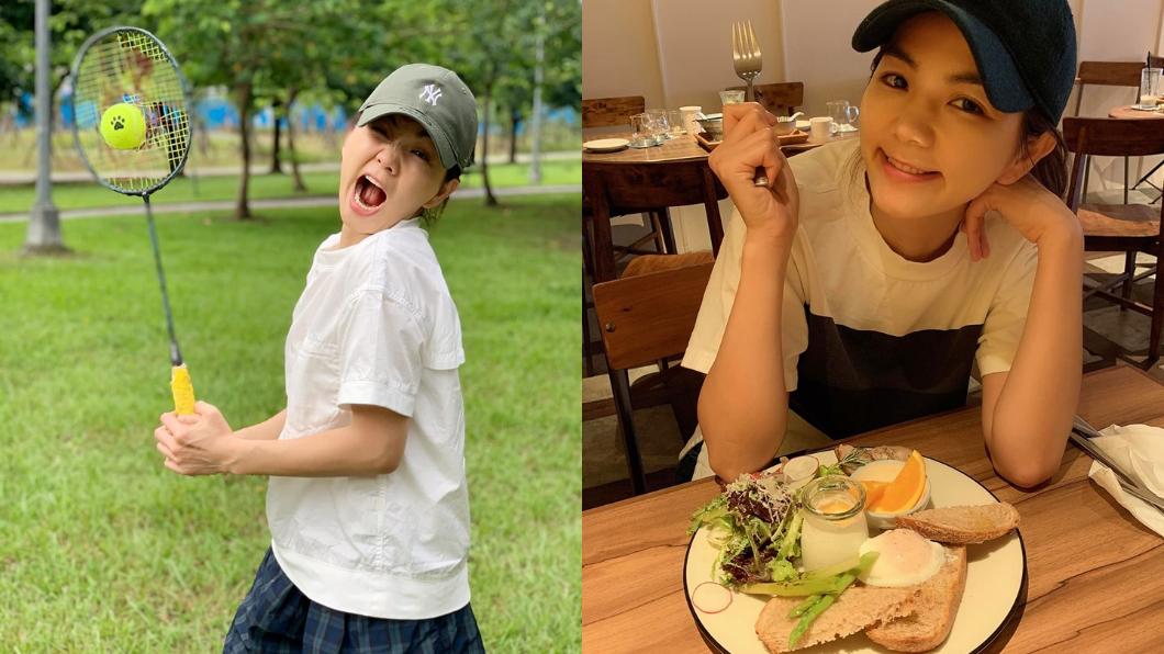 Ella維持良好生活和飲食習慣。合成圖/翻攝陳嘉樺 Ella臉書
