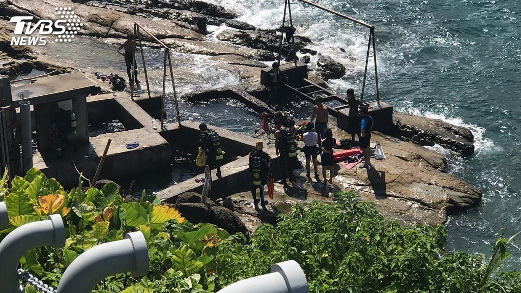 圖/中央社 潛水客潮境公園海域溺水 送醫後仍不治