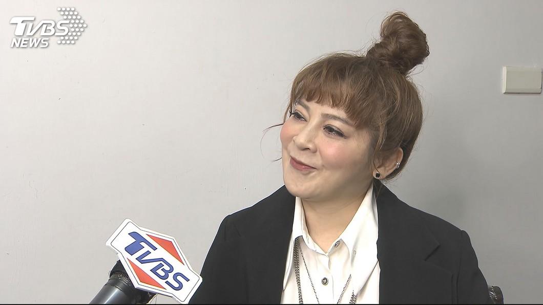 女星王彩樺有「台灣濱崎步」的封號。(圖/TVBS) 車站巧遇「超大咖女神」 王彩樺曬合照:好像在做夢喔