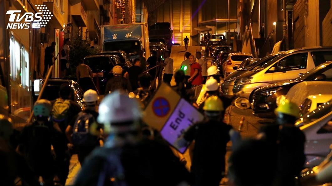 圖/達志影像路透社 反送中風潮以來規模最大 香港「三罷」抗爭夜未眠