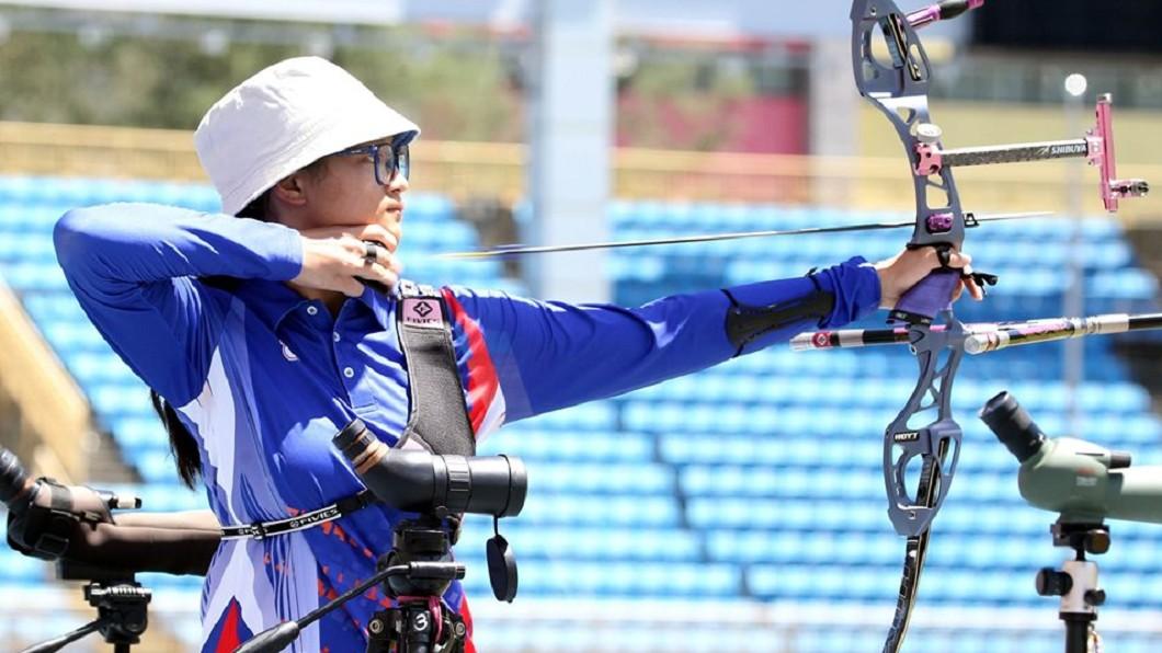 圖/翻攝自中華民國射箭協會 Chinese Taipei Archery Association臉書 亞洲盃射箭女子個人賽 蘇思蘋不敵南韓銀恨