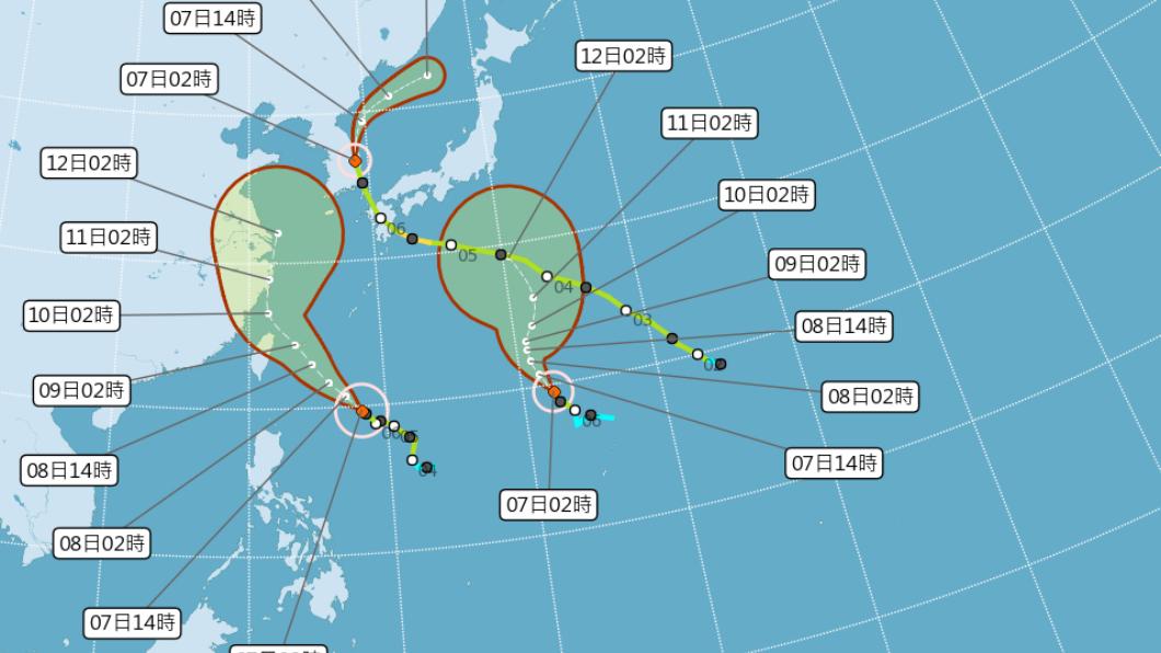 圖/中央氣象局 利奇馬轉中颱將「開眼」!這2天影響最劇 北台防雨炸