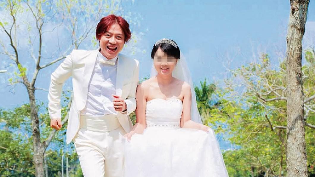 須家隆與印尼籍妻子在淡水拍攝婚紗照,一臉幸福洋溢。圖/CTWANT提供