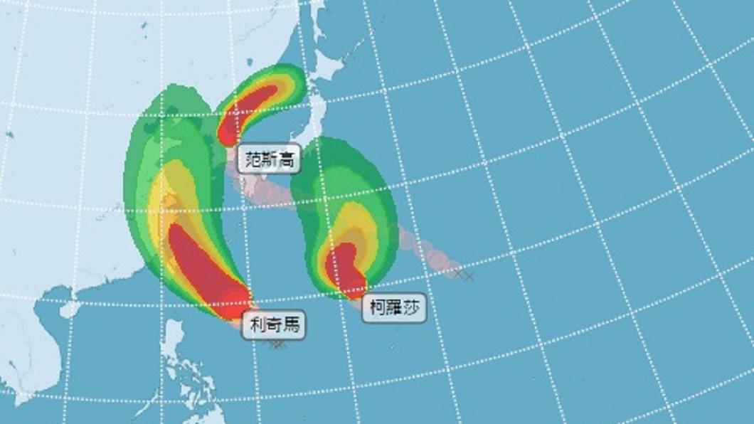 圖/中央氣象局 颱風利奇馬增強為中度颱風 預估下午發海警