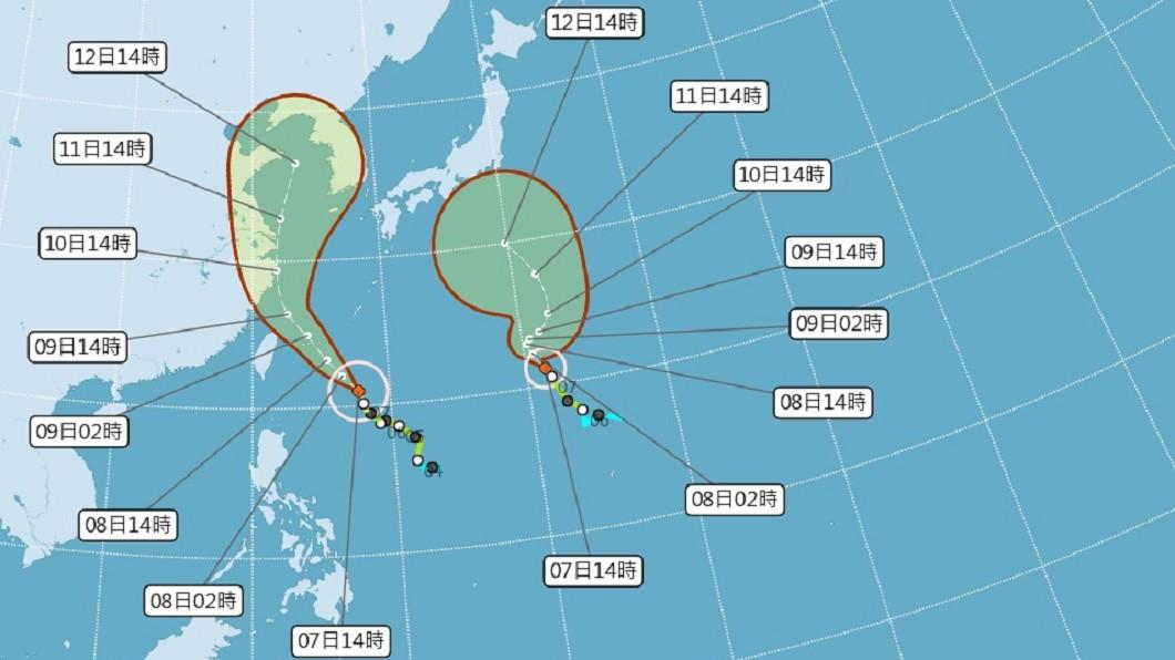 圖/中央氣象局 颱風利奇馬逼近 氣象局發布海警
