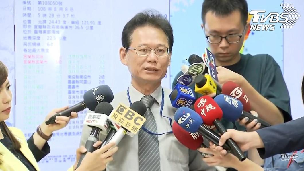 氣象局地震測報中心主任陳國昌。(圖/TVBS)