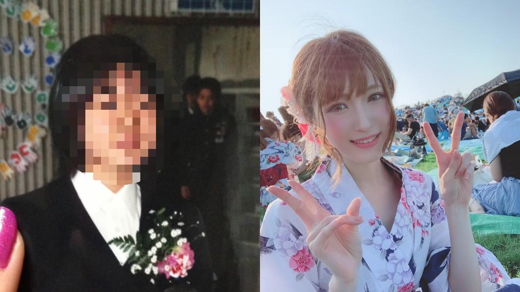 SaLA突然公開自己的高中舊照。圖/翻攝自推特SaLA_cos 網紅自爆是醜小鴨還被霸凌 靠這2招成甜美女神