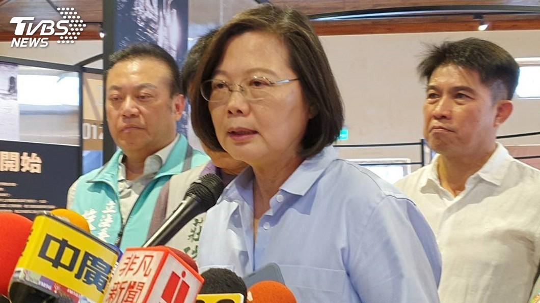 圖/中央社 莫拉克10週年遇地震 總統:3分鐘就獲回報